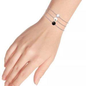 Onyx & Freshwater Pearl Bead Chain Bracelets - NWT